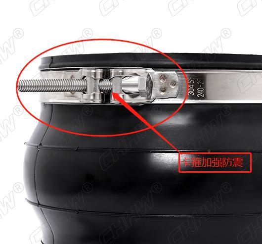 卡箍式加强加固橡胶接头